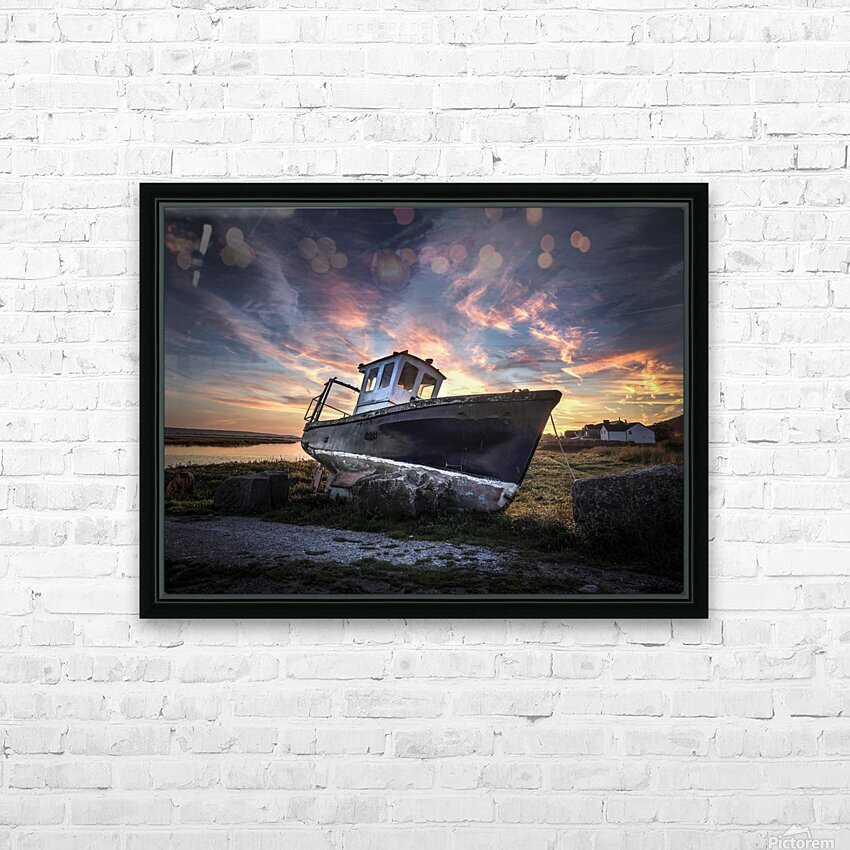 The old fishing boat HD Sublimation Metal print with Decorating Float Frame (BOX)