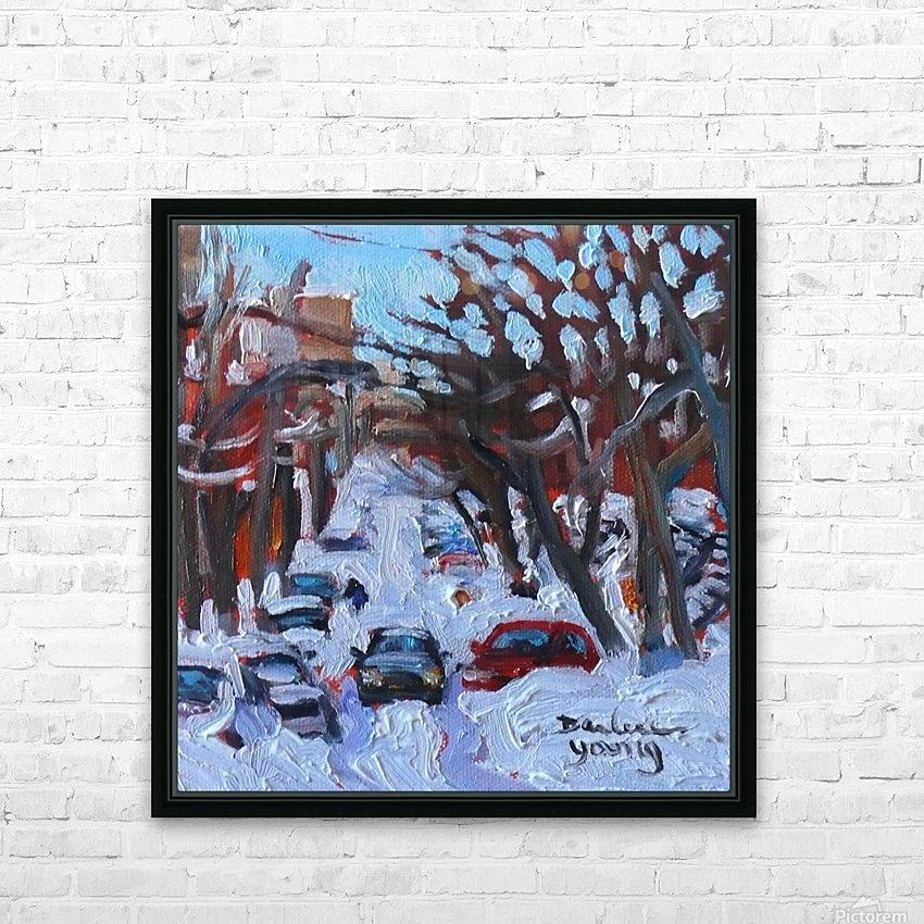 Montreal Est, Winter Scene HD Sublimation Metal print with Decorating Float Frame (BOX)