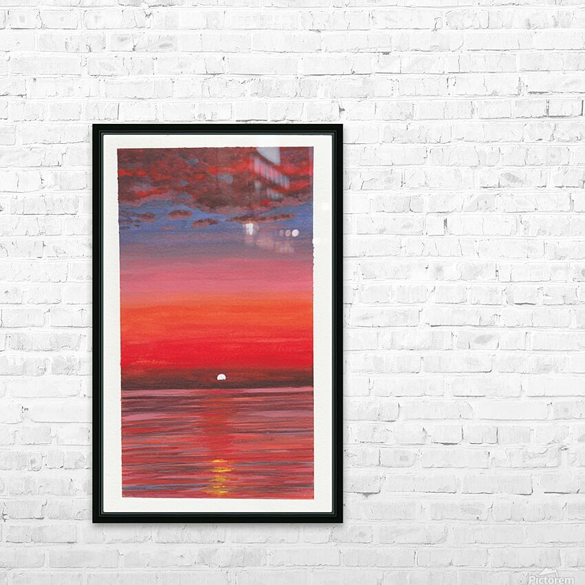 Ruby Night  HD Sublimation Metal print with Decorating Float Frame (BOX)