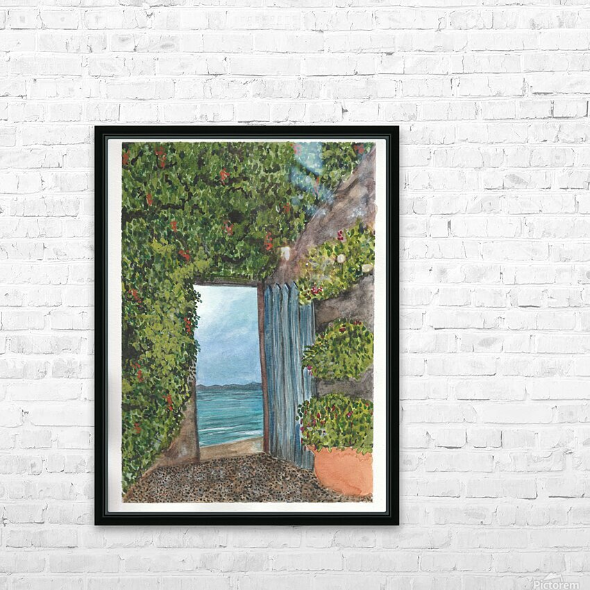 An Open Door HD Sublimation Metal print with Decorating Float Frame (BOX)