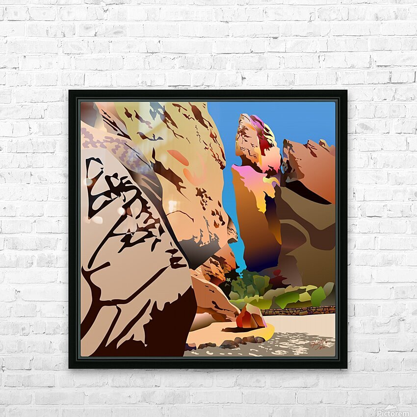 Garden of the Gods HD Sublimation Metal print with Decorating Float Frame (BOX)