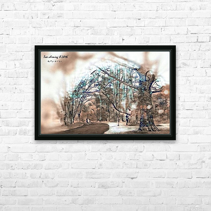 TreeCliming inky HD Sublimation Metal print with Decorating Float Frame (BOX)