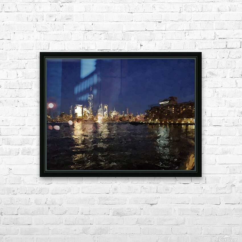 NYNight HD Sublimation Metal print with Decorating Float Frame (BOX)