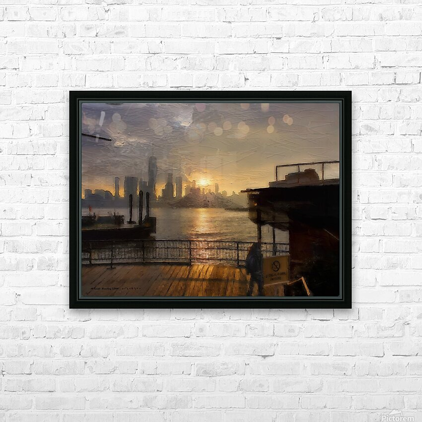 NYSunset HD Sublimation Metal print with Decorating Float Frame (BOX)