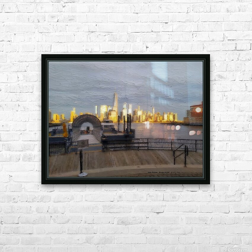 GoldenManhattan p HD Sublimation Metal print with Decorating Float Frame (BOX)