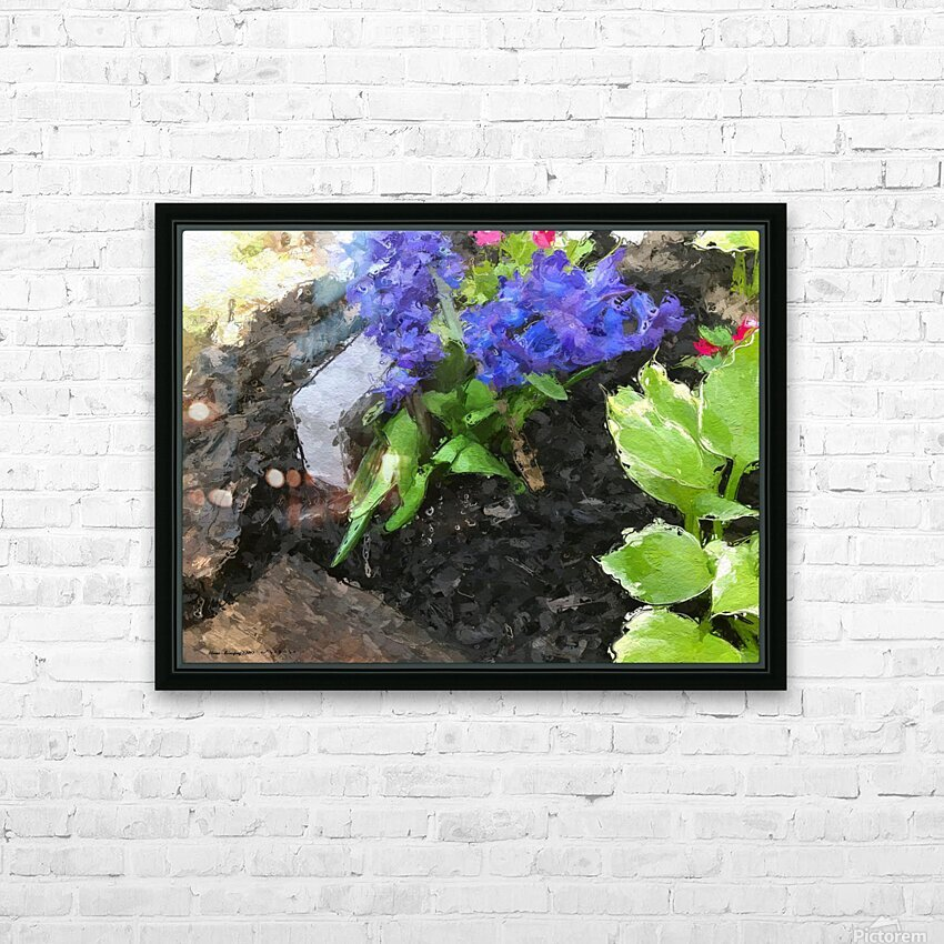 Flower p HD Sublimation Metal print with Decorating Float Frame (BOX)