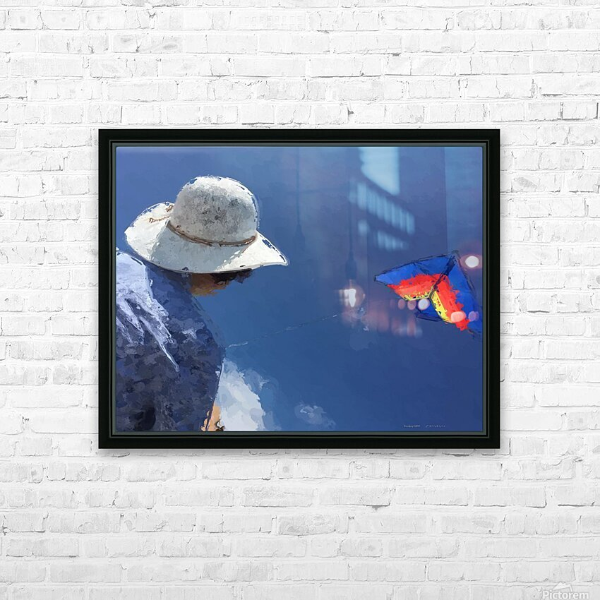 Kiting p HD Sublimation Metal print with Decorating Float Frame (BOX)