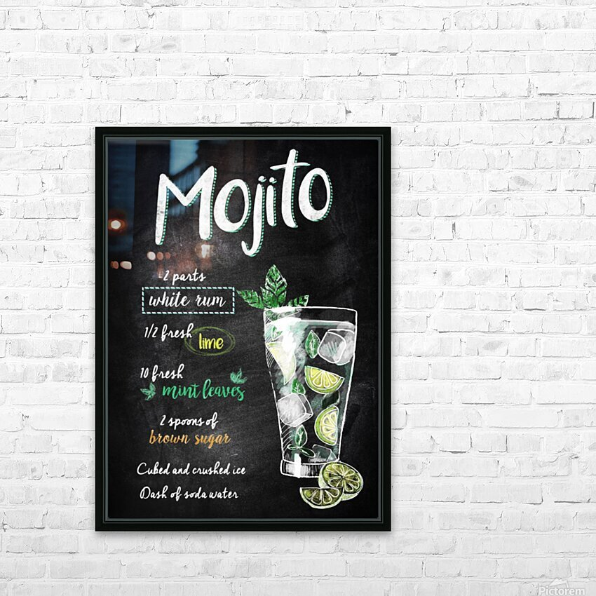 Mojito HD Sublimation Metal print with Decorating Float Frame (BOX)