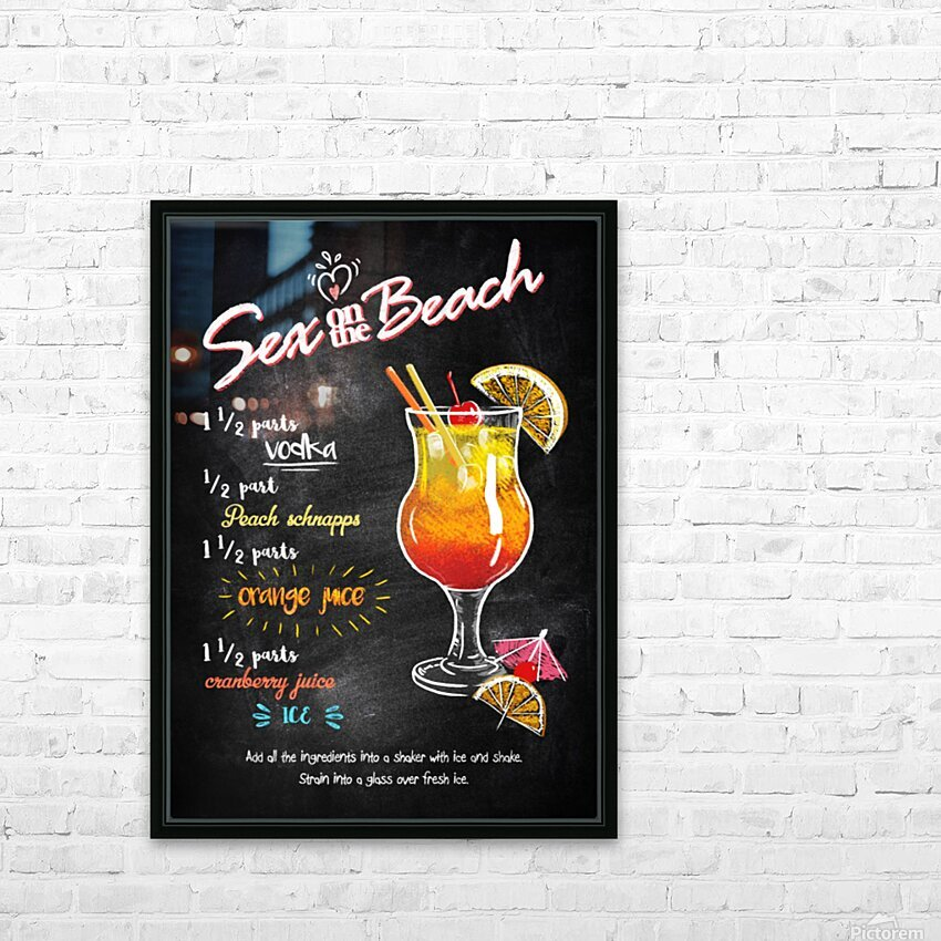 Sex on the Beach HD Sublimation Metal print with Decorating Float Frame (BOX)