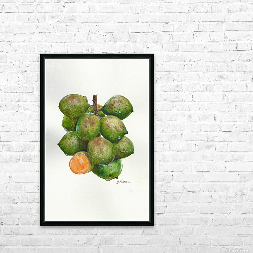 Spanish Lime HD Sublimation Metal print with Decorating Float Frame (BOX)
