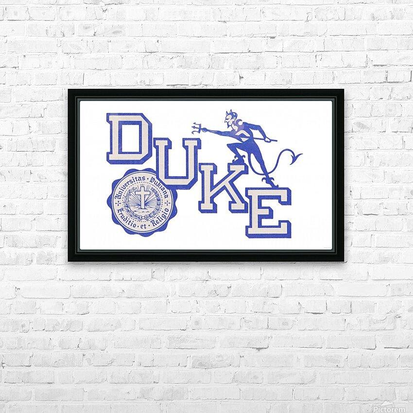 Vintage Duke University Art HD Sublimation Metal print with Decorating Float Frame (BOX)