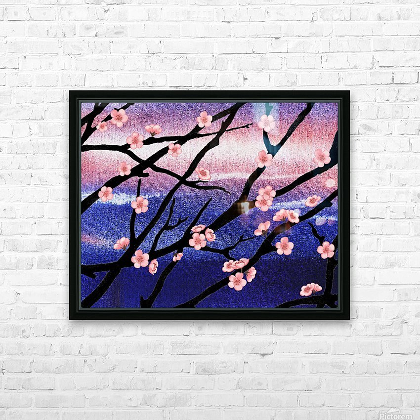 Cherry Blossoms HD Sublimation Metal print with Decorating Float Frame (BOX)