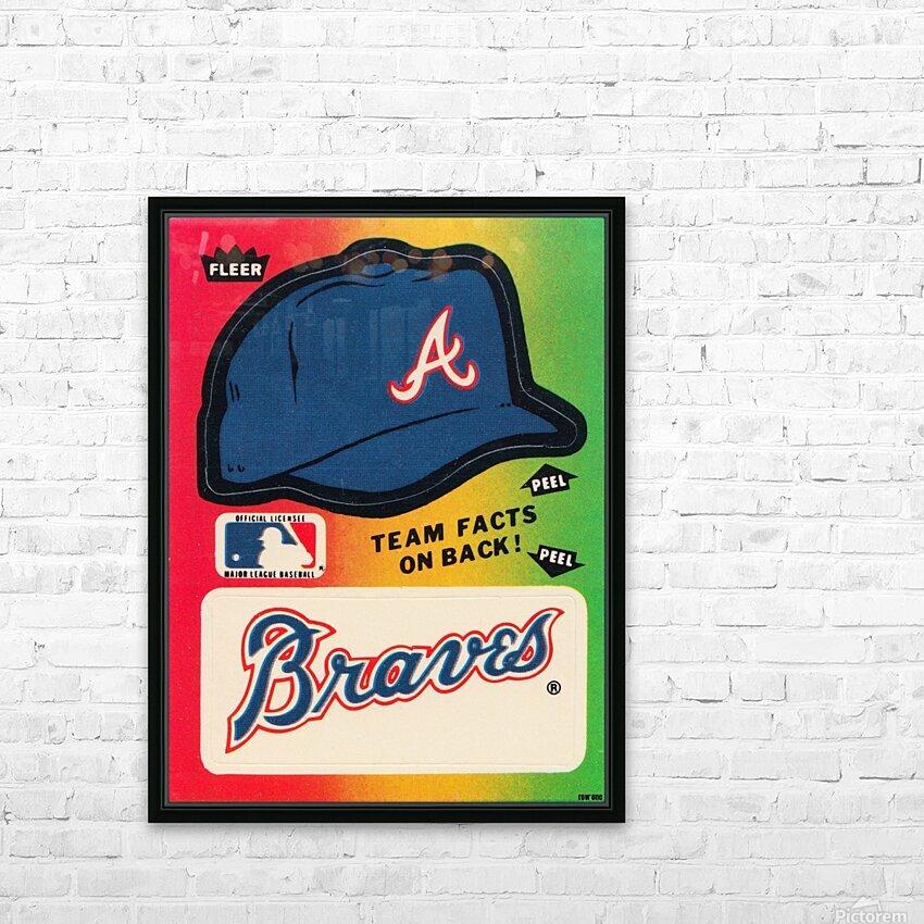 1983 Atlanta Braves Fleer Decal HD Sublimation Metal print with Decorating Float Frame (BOX)