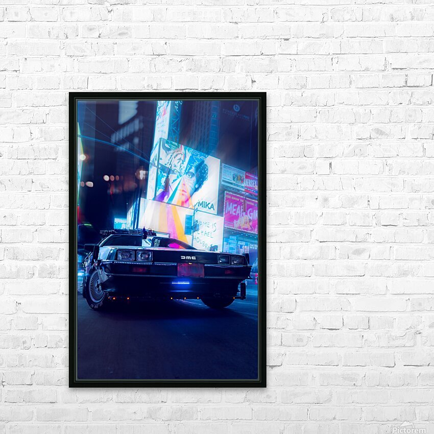 My DeLorean HD Sublimation Metal print with Decorating Float Frame (BOX)