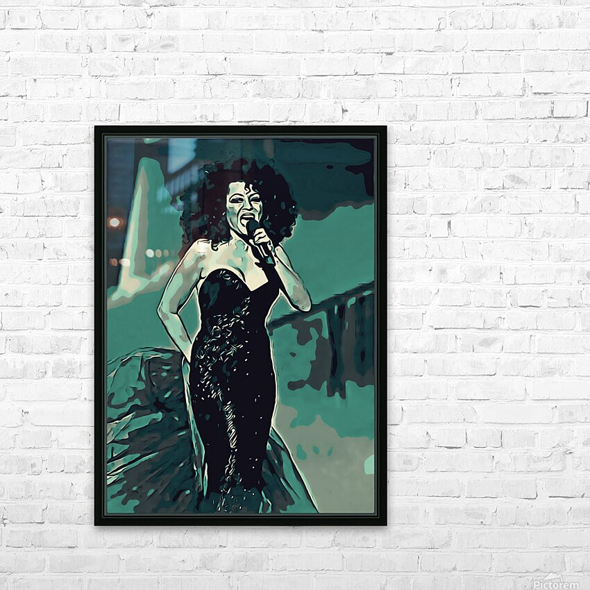 Diana_Ross_05 HD Sublimation Metal print with Decorating Float Frame (BOX)