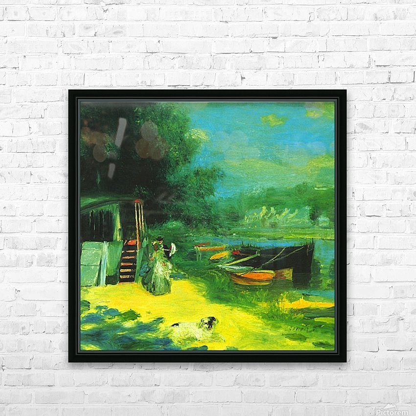 Place for Bading by Renoir HD Sublimation Metal print with Decorating Float Frame (BOX)