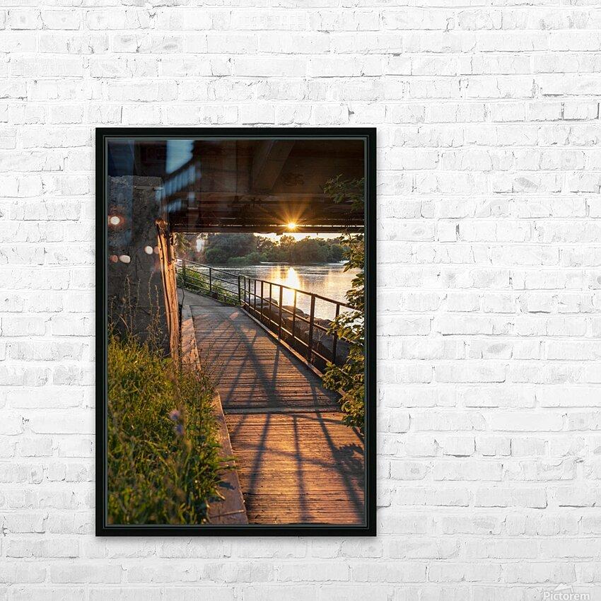 BridgeBoardwalk HD Sublimation Metal print with Decorating Float Frame (BOX)