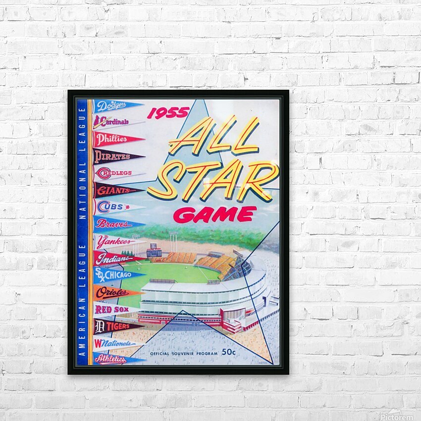 1955 Major League All-Star Game HD Sublimation Metal print with Decorating Float Frame (BOX)