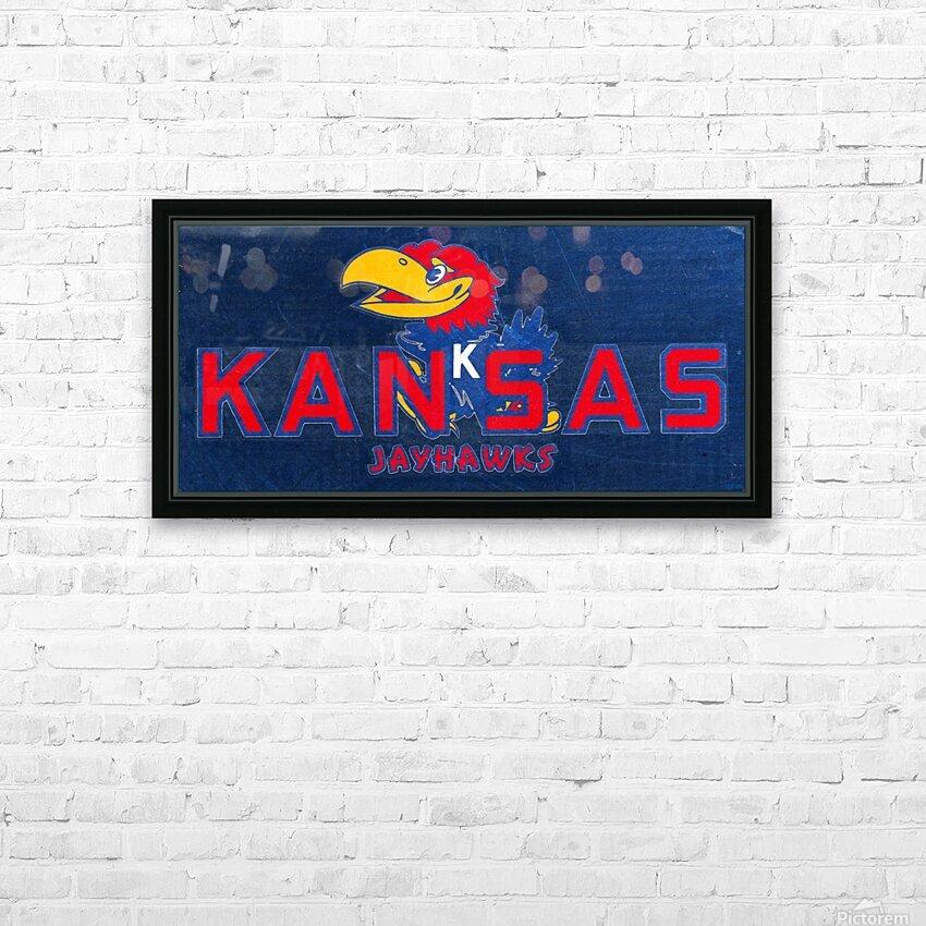 1950s Kansas Jayhawk Art HD Sublimation Metal print with Decorating Float Frame (BOX)