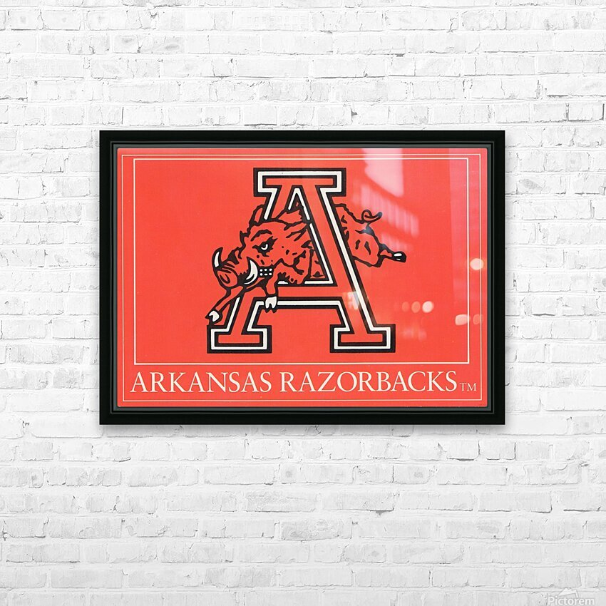 1980s Arkansas Razorback Art HD Sublimation Metal print with Decorating Float Frame (BOX)