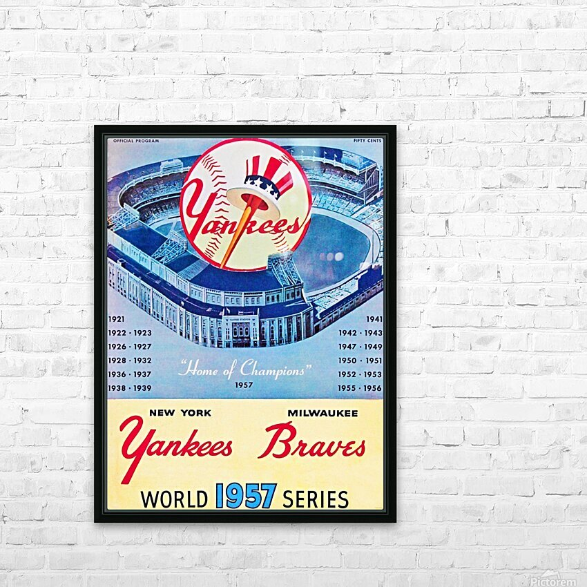 1957 World Series Program HD Sublimation Metal print with Decorating Float Frame (BOX)