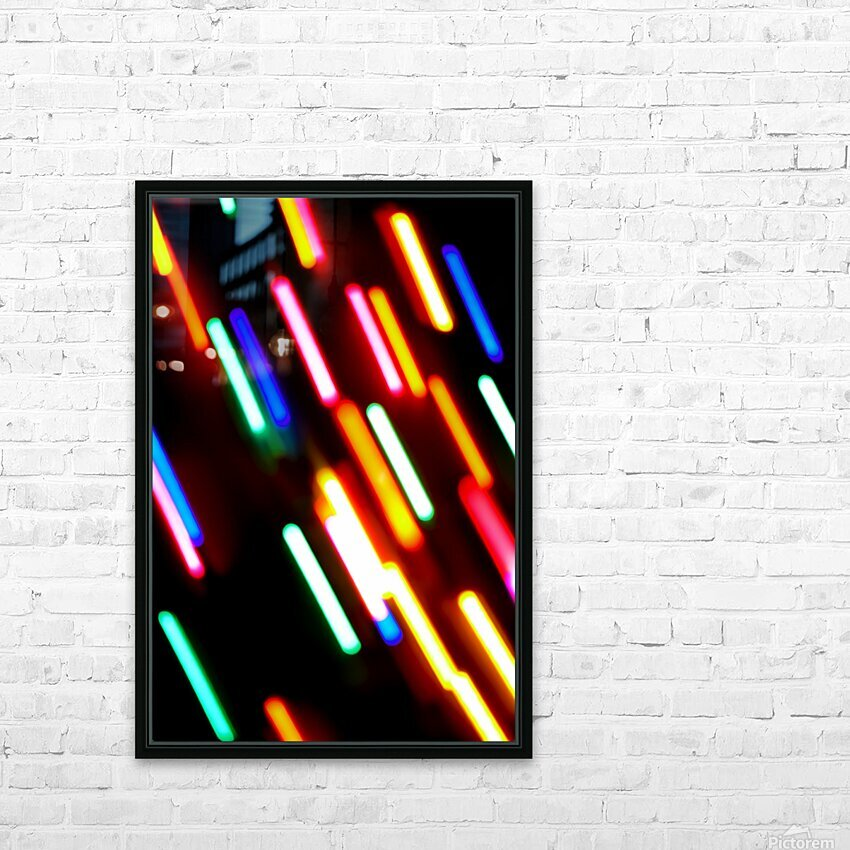 RAINBOW RAIN HD Sublimation Metal print with Decorating Float Frame (BOX)
