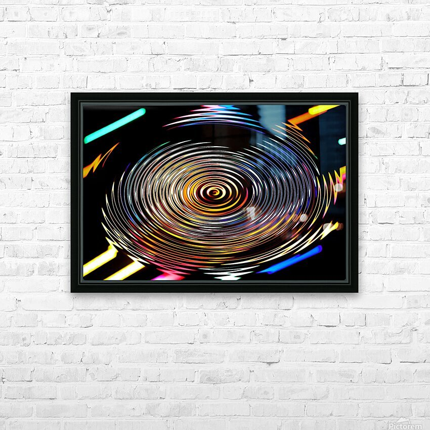 LUMI CIRCLE 001 HD Sublimation Metal print with Decorating Float Frame (BOX)