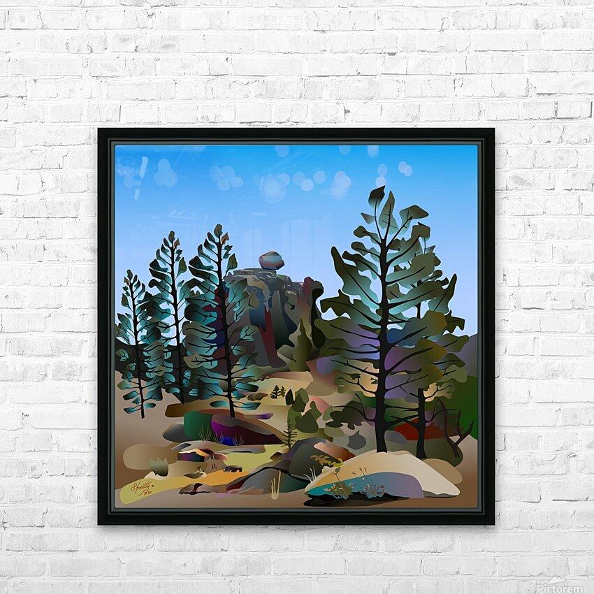 Balancing Boulder HD Sublimation Metal print with Decorating Float Frame (BOX)