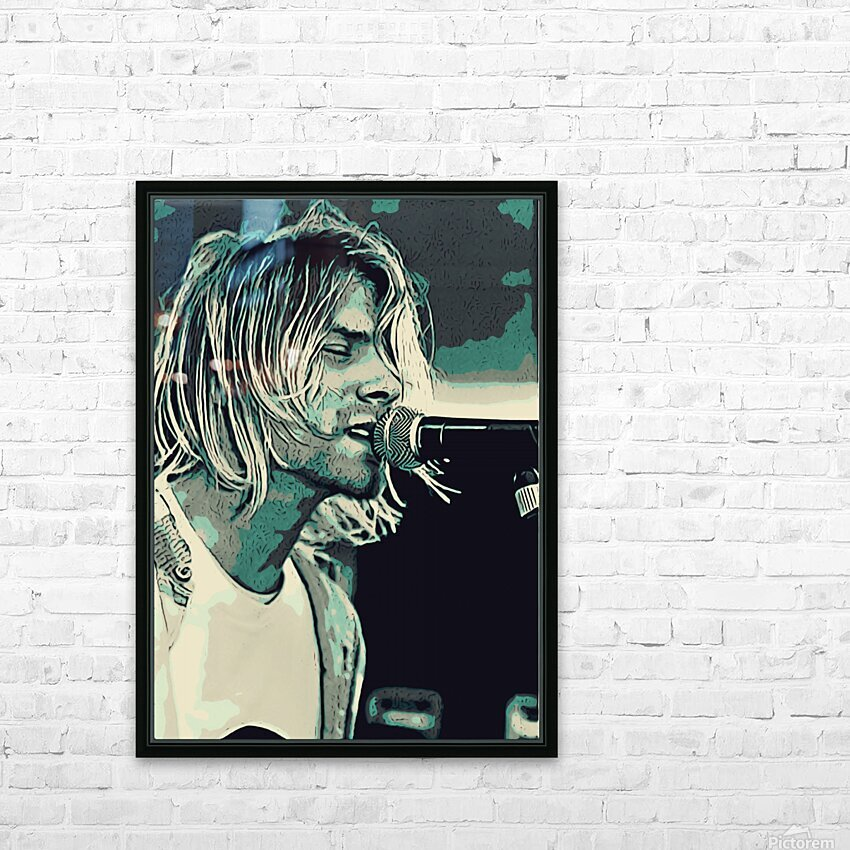 Kurt_Cobain_31 HD Sublimation Metal print with Decorating Float Frame (BOX)