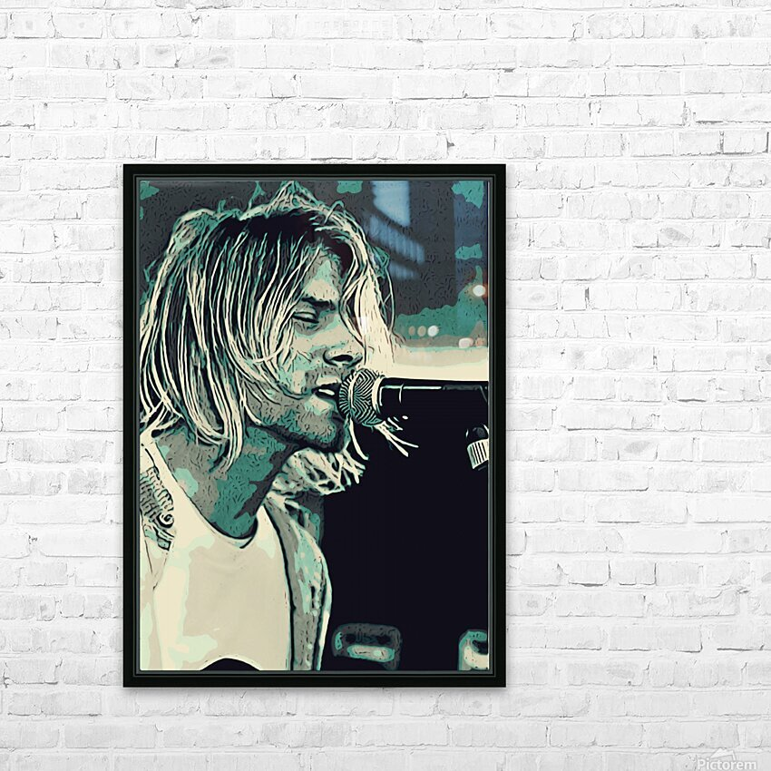 Kurt_Cobain_31_1602405692.4736 HD Sublimation Metal print with Decorating Float Frame (BOX)