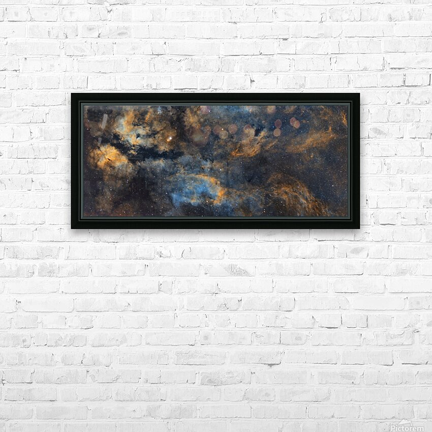 Gamma Cygni Nebula HD Sublimation Metal print with Decorating Float Frame (BOX)