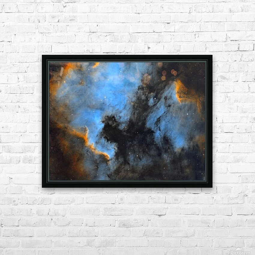 North American and Pelican Nebula HD Sublimation Metal print with Decorating Float Frame (BOX)
