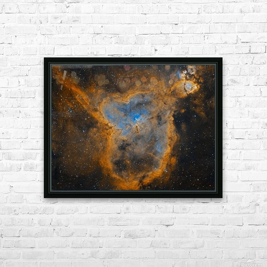 Heart Nebula HD Sublimation Metal print with Decorating Float Frame (BOX)