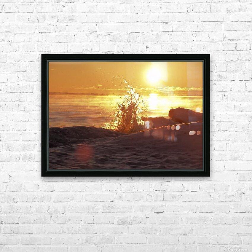A Splash of Sunrise HD Sublimation Metal print with Decorating Float Frame (BOX)