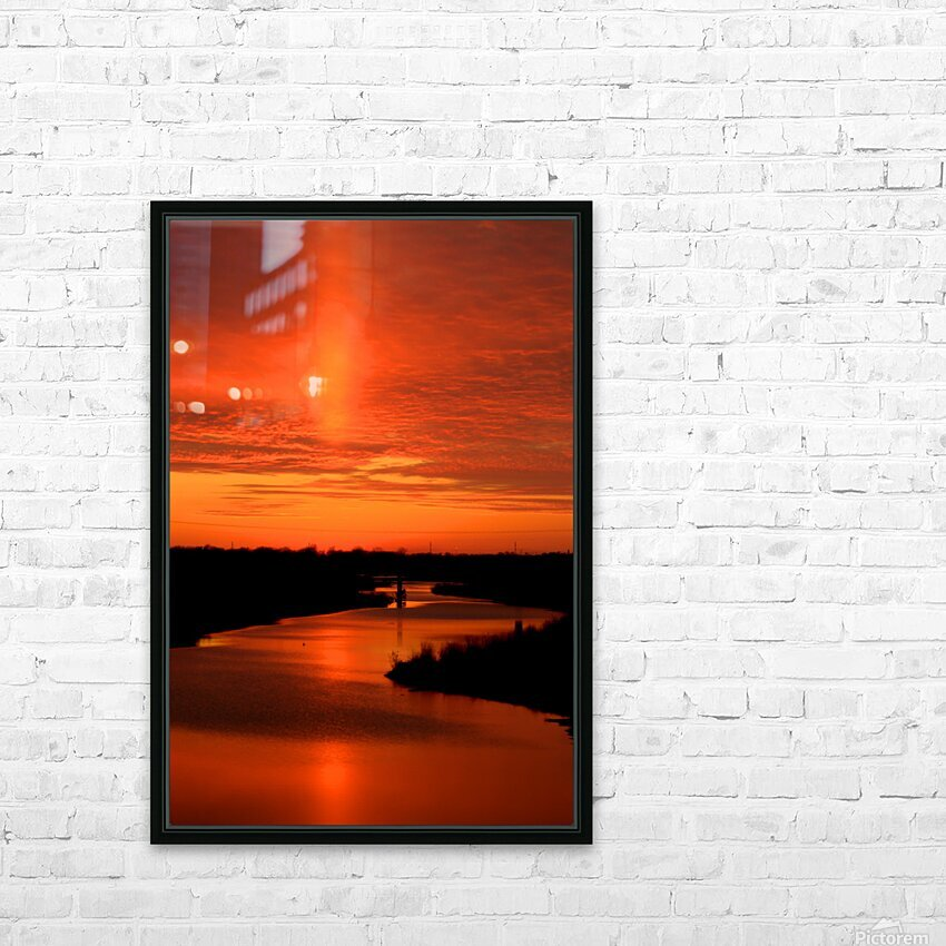 Big Ditch Sunset HD Sublimation Metal print with Decorating Float Frame (BOX)
