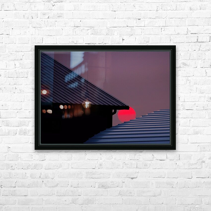 Smokey Sunset and Steel Roofs HD Sublimation Metal print with Decorating Float Frame (BOX)