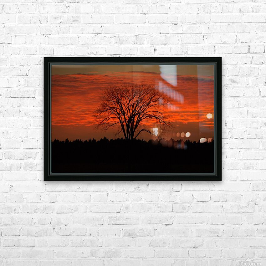 Wisconsin November Sunset Wood County HD Sublimation Metal print with Decorating Float Frame (BOX)
