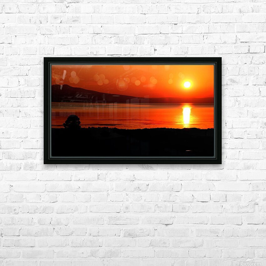 Honey Lake Sunrise HD Sublimation Metal print with Decorating Float Frame (BOX)