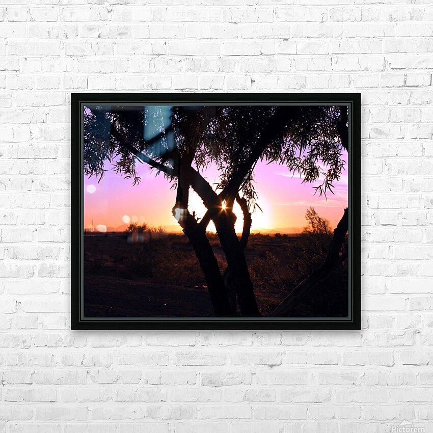 Tamarisk Sunset HD Sublimation Metal print with Decorating Float Frame (BOX)