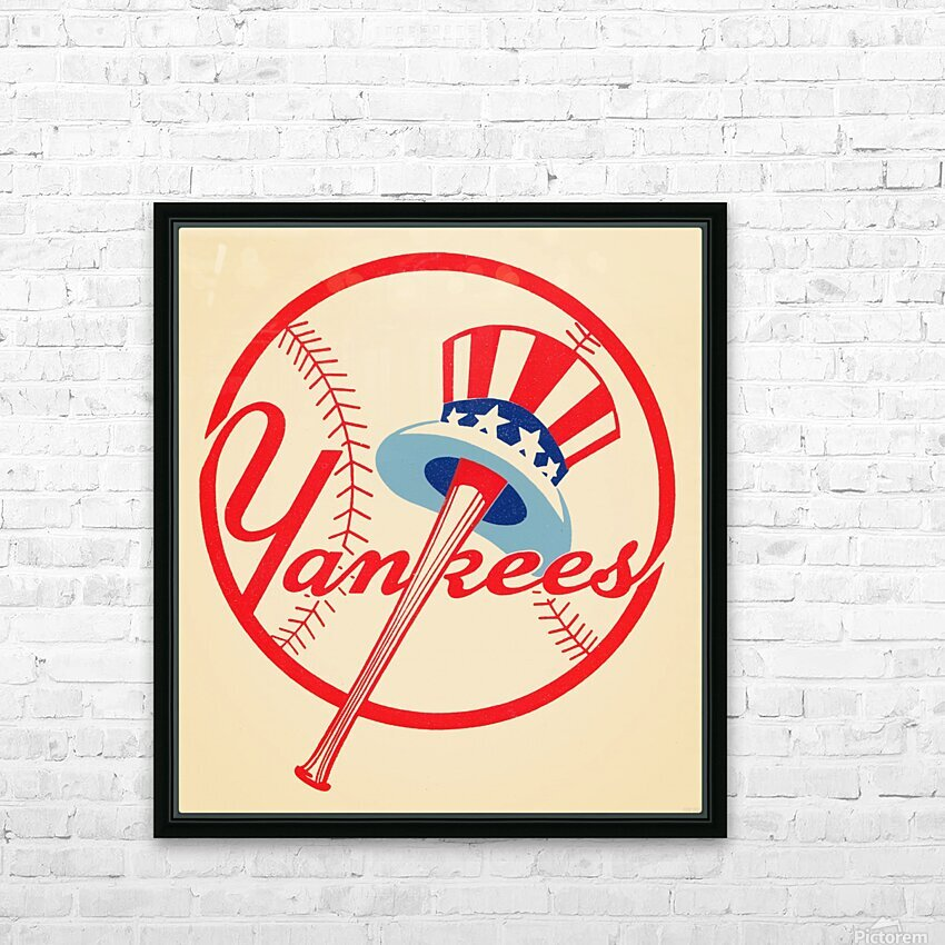 1950s New York Yankees HD Sublimation Metal print with Decorating Float Frame (BOX)