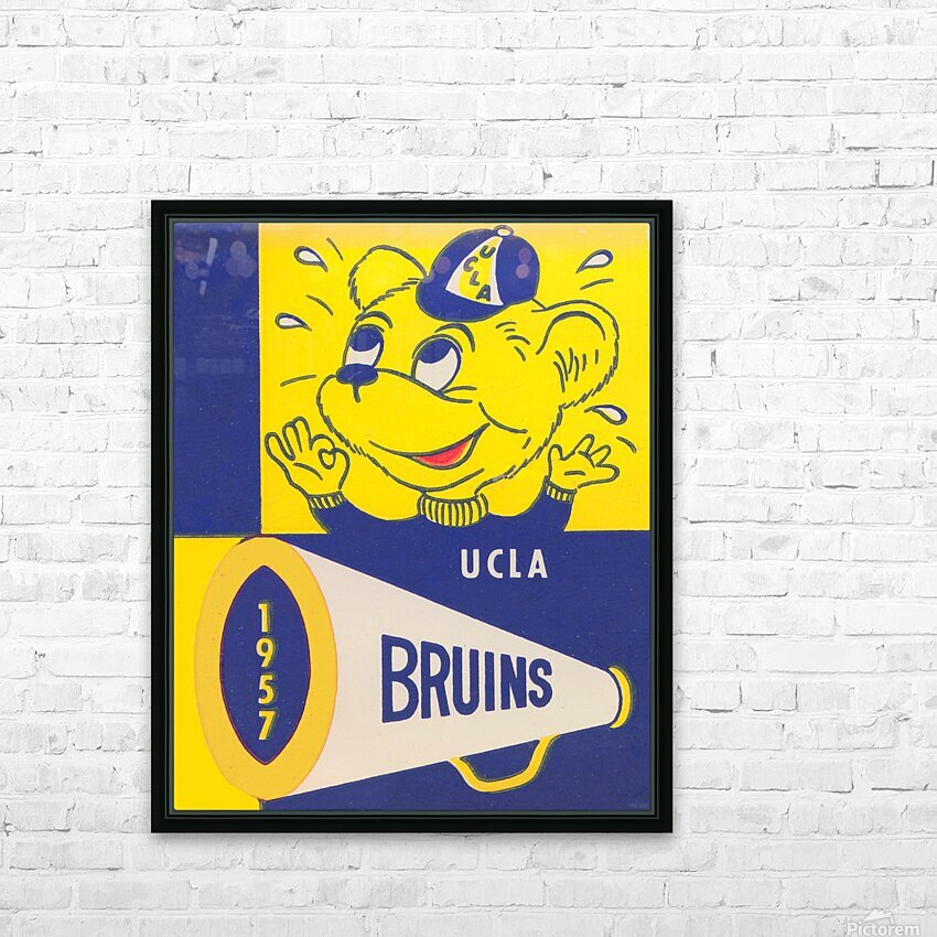 1957 UCLA Bruins HD Sublimation Metal print with Decorating Float Frame (BOX)