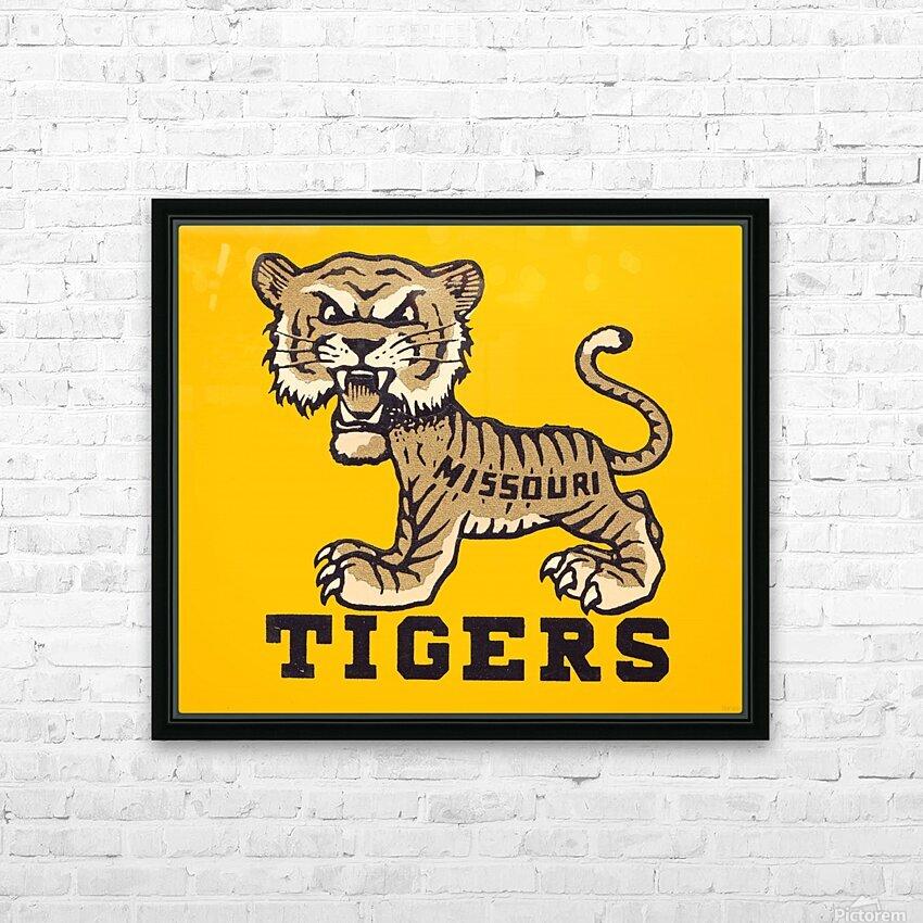 1950s Missouri Tigers Art Print HD Sublimation Metal print with Decorating Float Frame (BOX)