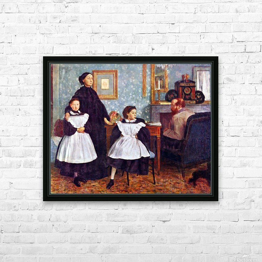 Portait of the Bellelli family by Degas HD Sublimation Metal print with Decorating Float Frame (BOX)