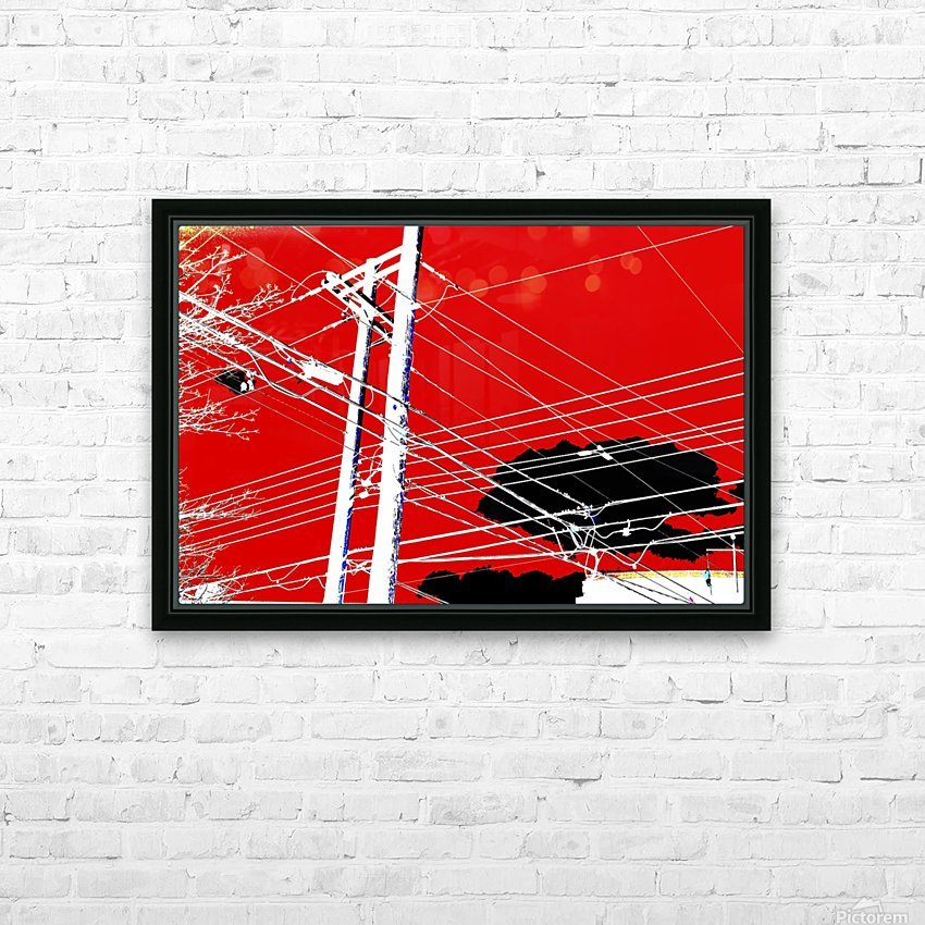 COTE SAINT LUC RED HD Sublimation Metal print with Decorating Float Frame (BOX)