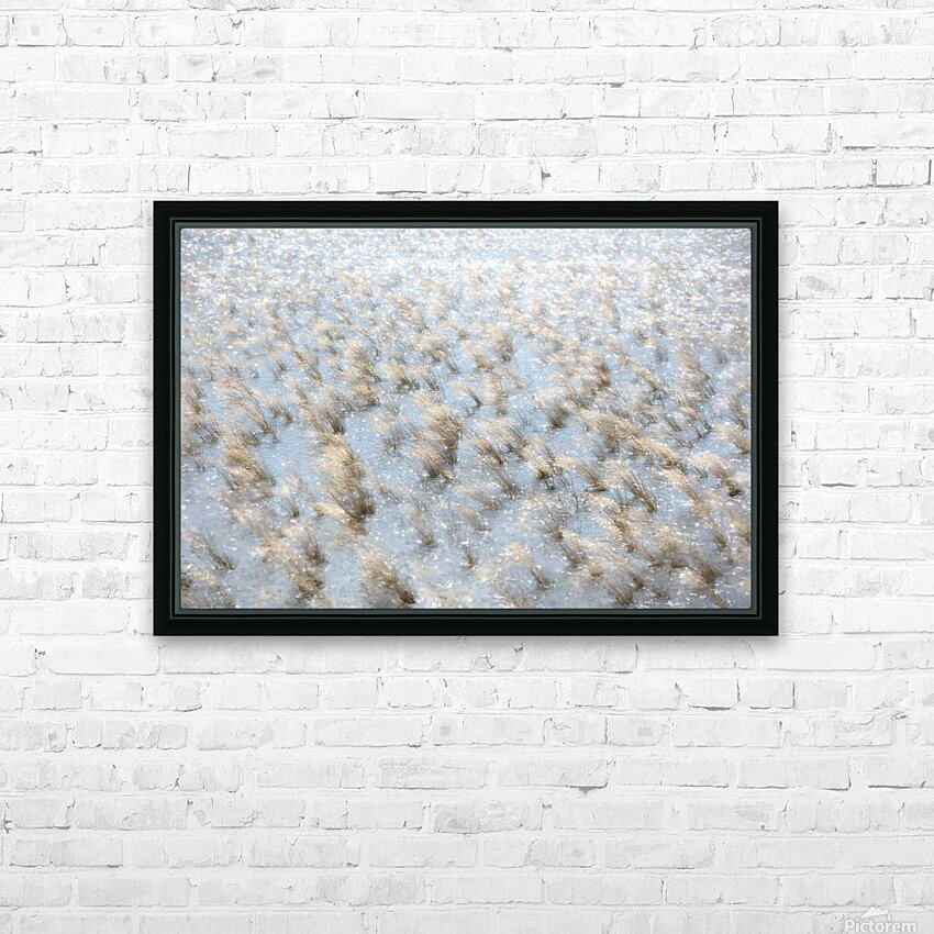 Lake Grass HD Sublimation Metal print with Decorating Float Frame (BOX)