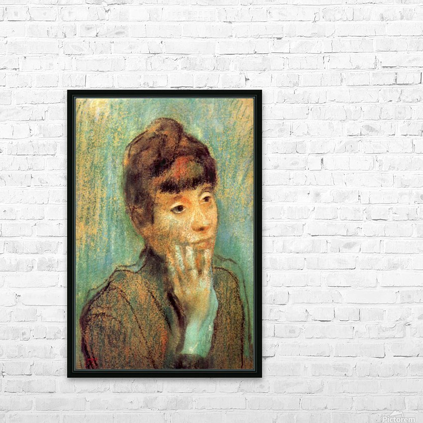 Portrait of a Lady by Degas HD Sublimation Metal print with Decorating Float Frame (BOX)
