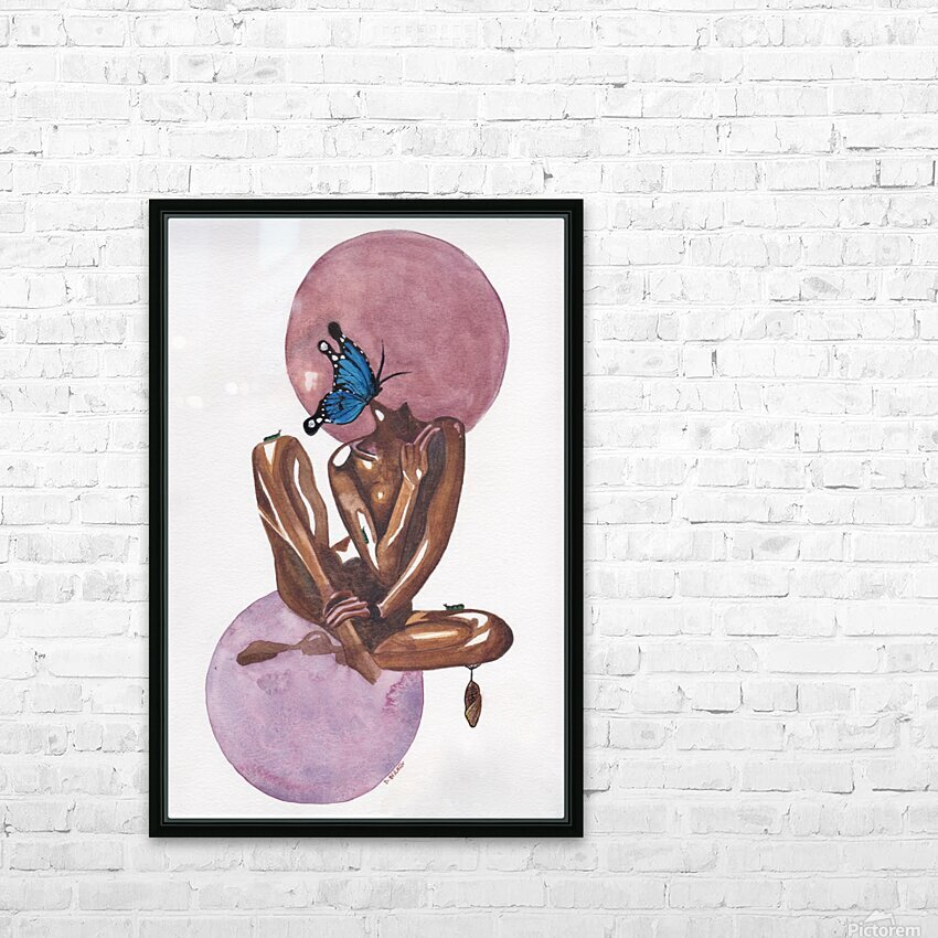 Moonlight Blossom HD Sublimation Metal print with Decorating Float Frame (BOX)