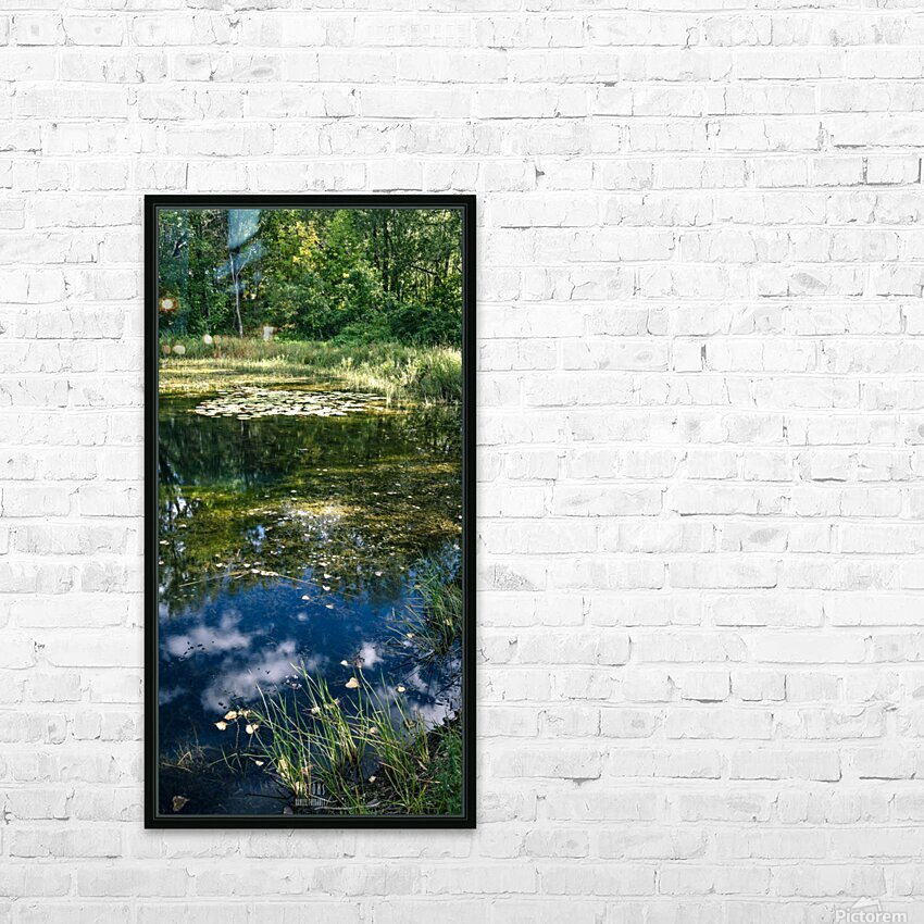 Monet style 2 HD Sublimation Metal print with Decorating Float Frame (BOX)