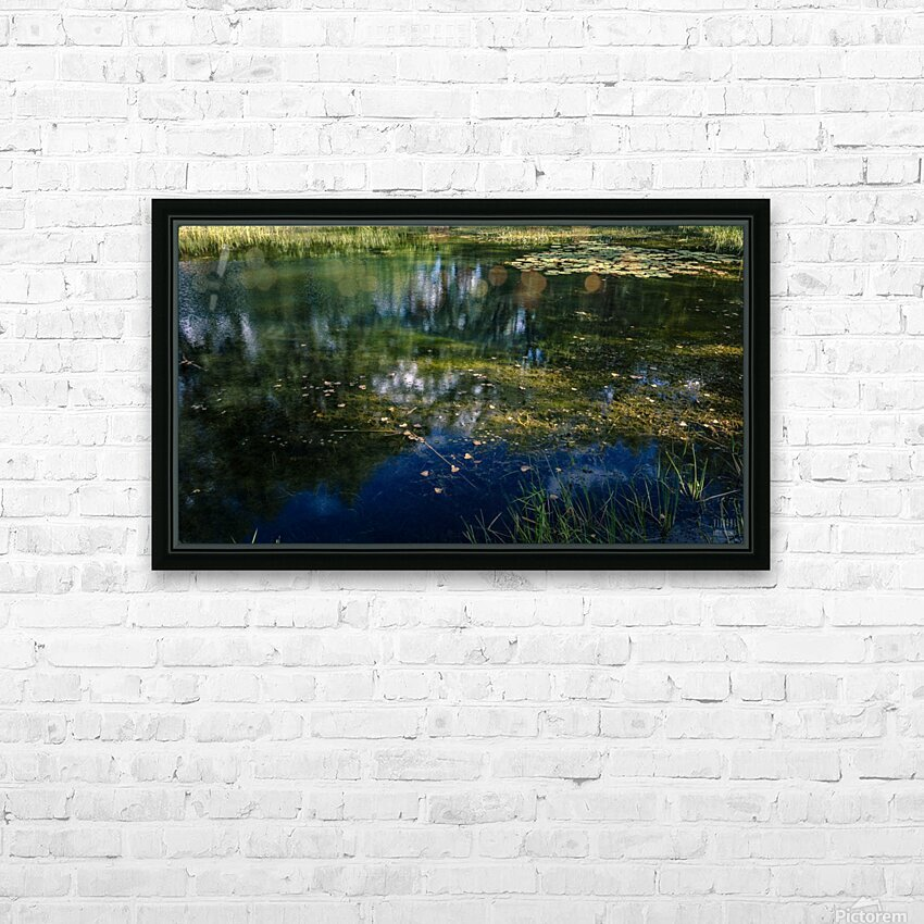 Monet style 3 HD Sublimation Metal print with Decorating Float Frame (BOX)