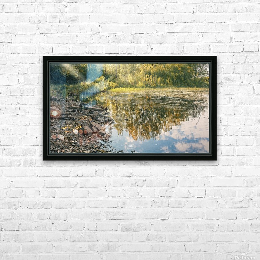 Monet style 4 HD Sublimation Metal print with Decorating Float Frame (BOX)